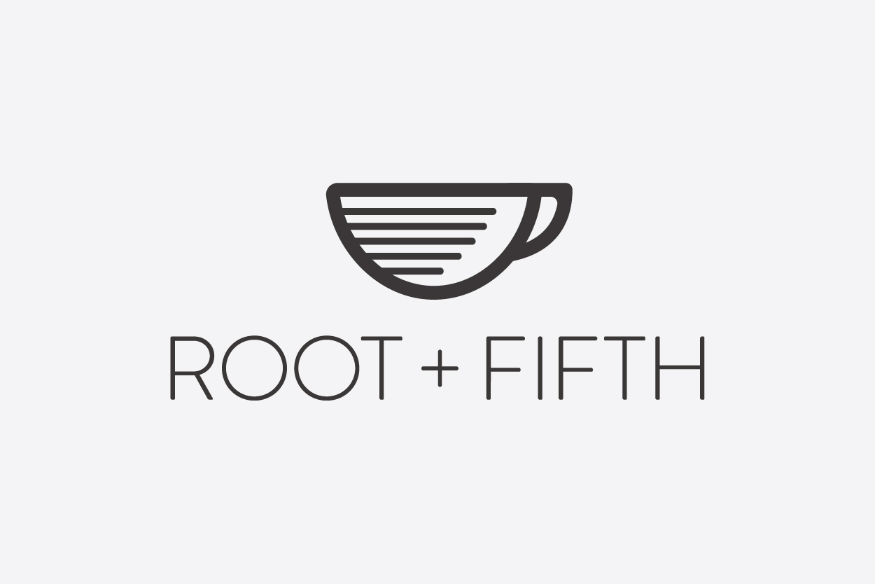 Root and Fifth coffee shop logo
