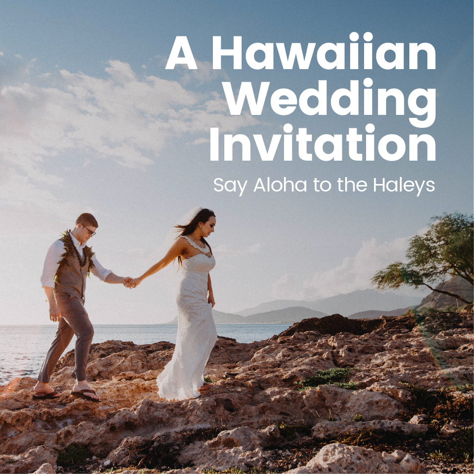 Neil & Maria's Hawaiian Wedding Invitations