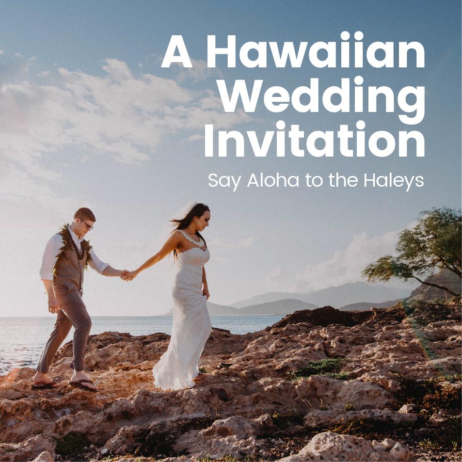 Neil & Maria's Hawaiian Wedding Invitations