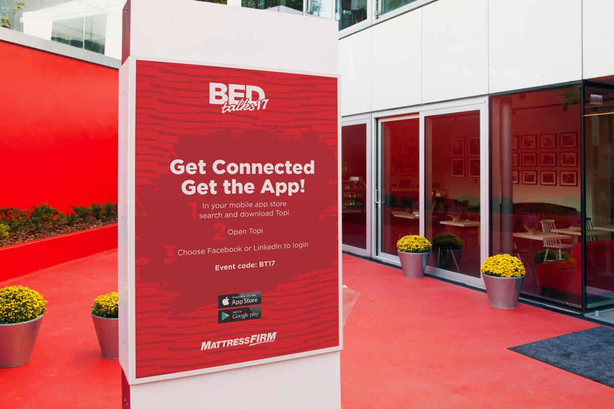 BEDtalks17 Signage design