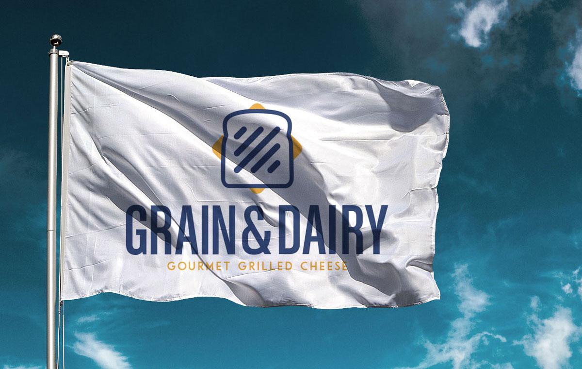 Logo on flag