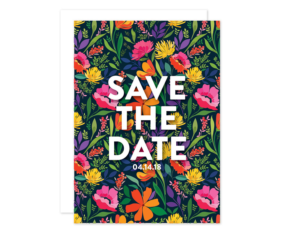 Floral Save the Date design