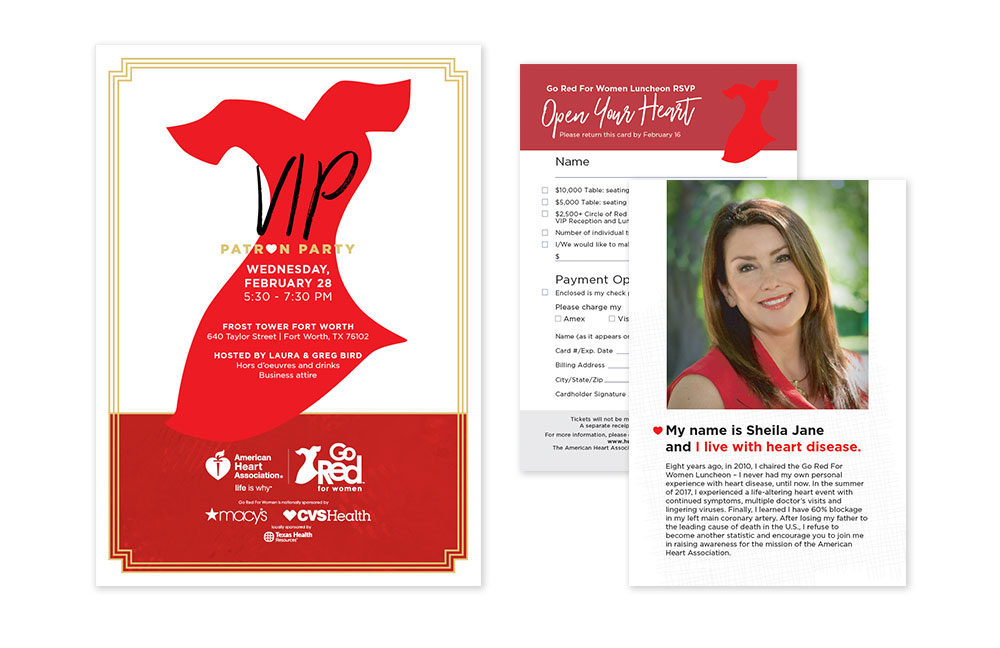 Go Red Patron Party Invitation
