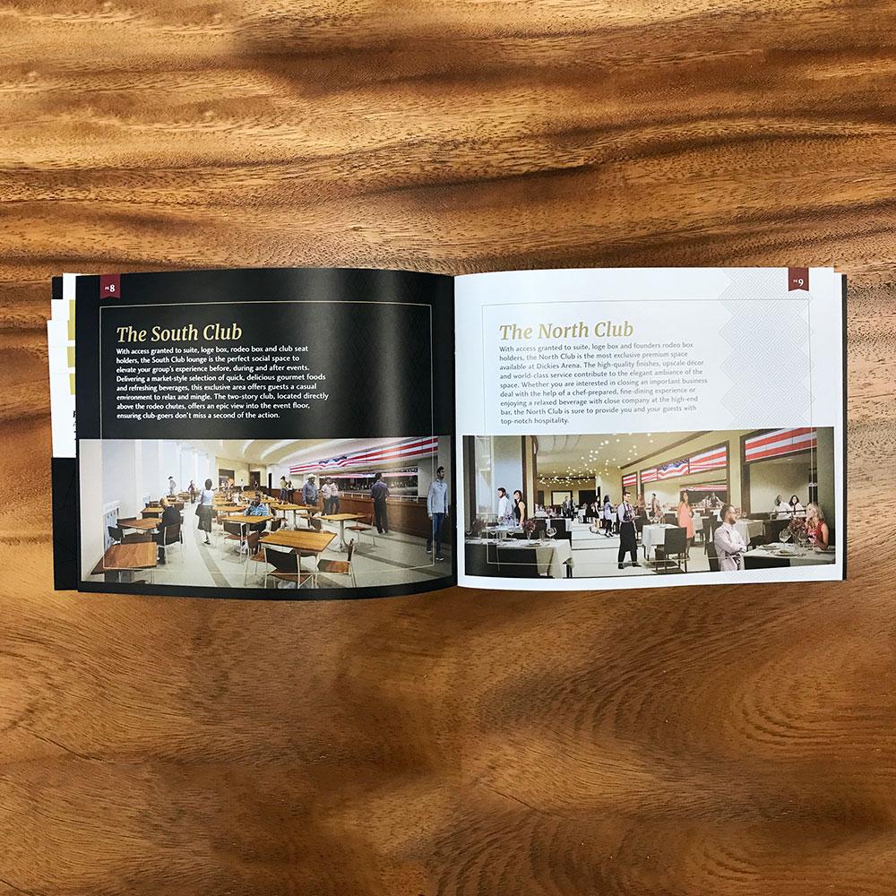 Dickies Arena Brochure Design - Julie Wright