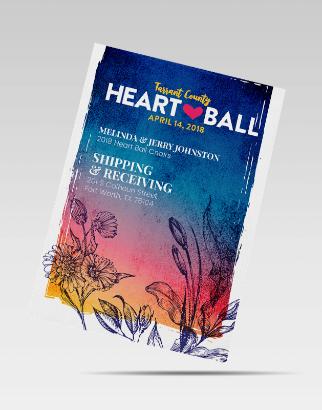 2018 Heart Ball Design - Event Invitation Design