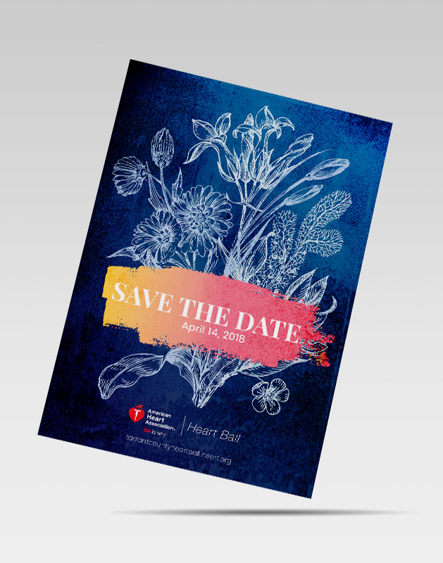 2018 Heart Ball Design - Save the Date Design