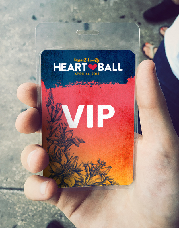 2018 Heart Ball Design - VIP Badge Design